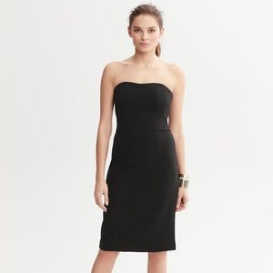 Banana Republic Monogram Black Strapless Dress